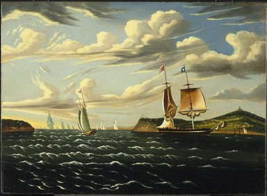 Thomas Chambers (American, 1808-died after 1866). Staten Island and the Narrows, ca. 1835-1855. Oil on canvas, 21 15/16 x 30 1/4 in. (55.8 x 76.9 cm). Brooklyn Museum, Dick S. Ramsay Fund, 48.53