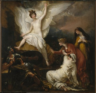 Benjamin West (American, 1738-1820). The Women at the Sepulchre (The Angel at the Tomb of Christ), 1805. Oil on panel, 32 11/16 x 34 1/16 in. (83 x 86.5 cm). Brooklyn Museum, Dick S. Ramsay Fund, 48.76