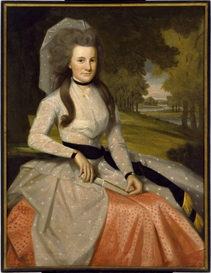 Ralph Earl (American, 1751-1801). Clarissa Seymour (later Mrs. Truman Marsh), 1789. Oil on canvas, 47 9/16 x 35 15/16 in. (120.8 x 91.3 cm). Brooklyn Museum, Museum Collection Fund, 48.8