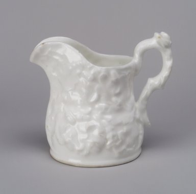 Charles Cartlidge & Co. (1848-1856). Pitcher, 1848-1856. Porcelain, 5 1/2 x 6 1/8 x 4 1/4 in. (14 x 15.6 x 10.8 cm). Brooklyn Museum, Gift of Mrs. A. L. Hutchings, 49.126. Creative Commons-BY