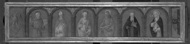 Brooklyn Museum: Saints Bernardino, Blasius, Peter, Paul, Anthony Abbot and Catherine of Siena, predella