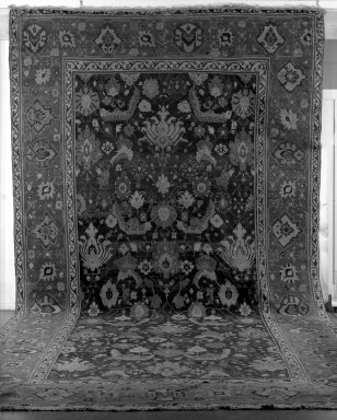 Rug, late 18th-19th century., Old Dims: 224 x 112 in. (569 x 284.5 cm). Brooklyn Museum, Gift of F. Ethel Wickham, 49.142.1. Creative Commons-BY