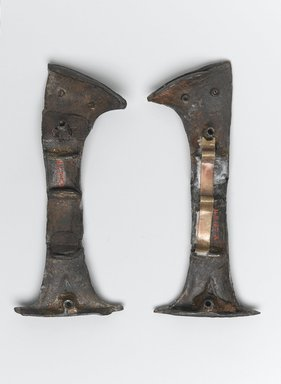 Brooklyn Museum: Two Halves of Handle of a Votive Knife