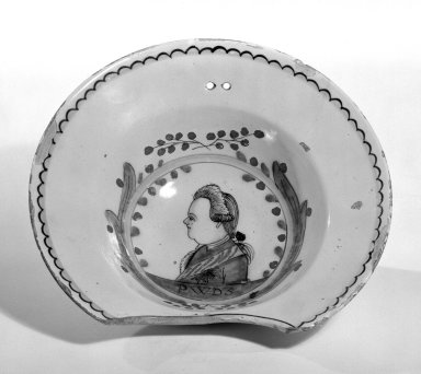 Delft Bowl, 1750-1770. Earthenware, 3 1/8 x 10 1/2 in. (7.9 x 26.7 cm). Brooklyn Museum, Museum Collection Fund, 49.182.1. Creative Commons-BY