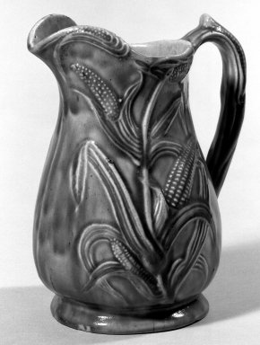 Sidney Risley. Pitcher, 1836-1875. Glazed stoneware, 8 1/2 in. (21.6 cm). Brooklyn Museum, Museum Collection Fund, 49.187.1. Creative Commons-BY