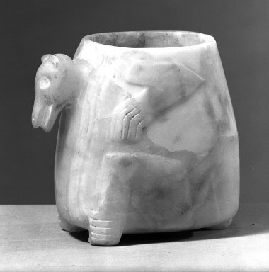 Alabaster Vase. Tokali, 5 7/8 x 6 1/2 x 3 15/16 in. (15 x 16.5 x 10 cm). Brooklyn Museum, Gift of Albert Gallatin, 49.20.1. Creative Commons-BY