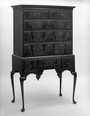American. High chest, ca.1740. Walnut, pine, maple, 65 1/2 x 39 x 21 1/2 in. (166.4 x 99.1 x 54.6 cm). Brooklyn Museum, Gift of Sidney Buchman, 49.209.1. Creative Commons-BY