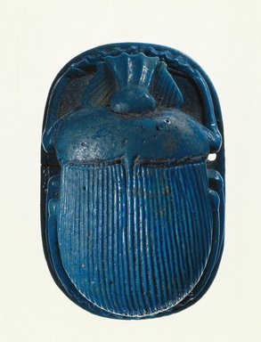 Egyptian. Scarab with Separate Wings, ca. 712-342 B.C.E. Faience, glazed, Scarab: 11/16 x 1 5/8 x 2 1/2 in. (1.8 x 4.2 x 6.3 cm). Brooklyn Museum, Charles Edwin Wilbour Fund, 49.28a-c. Creative Commons-BY