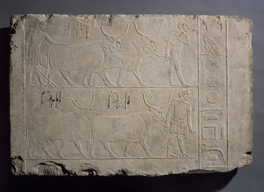 Relief of Men Presenting Oxen, ca. 2500-2350 B.C.E. Limestone, 20 1/16 x 29 15/16 in. (51 x 76 cm). Brooklyn Museum, Charles Edwin Wilbour Fund, 49.62. Creative Commons-BY