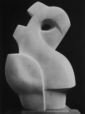 Warren Wheelock (American, 1880-1960). Abstraction, 1943. Carrara marble, 28 15/16 x 18 7/8 x 9 3/4 in. (73.5 x 47.9 x 24.8 cm). Brooklyn Museum, Anonymous gift, 49.90