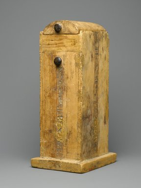 Shabty Box of Amunemhat, ca. 1400-1336 B.C.E. Wood, 12 1/2 x 6 1/4 x 5 in. (31.8 x 15.9 x 12.7 cm). Brooklyn Museum, Charles Edwin Wilbour Fund, 50.130. Creative Commons-BY