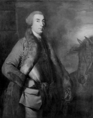 Sir Joshua Reynolds (British, 1723-1792). Portrait of Lord George Sackville. Oil on canvas, 49 3/4 x 39 3/4 in.  (126.4 x 101.0 cm). Brooklyn Museum, Gift of Mrs. Arthur Train in memory of Emily Pell Coster, 50.134