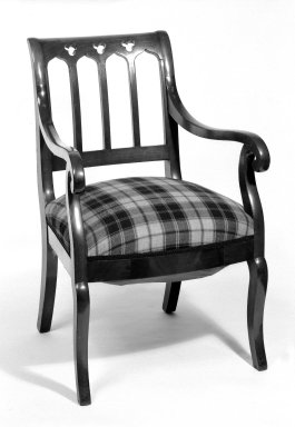 American. Armchair, ca. 1850. Mahogany, 35 3/4 x 20 3/4 x 19 1/2 in. (90.8 x 52.7 x 49.5 cm). Brooklyn Museum, Bequest of Mrs. William Sterling Peters, 50.141.19b. Creative Commons-BY