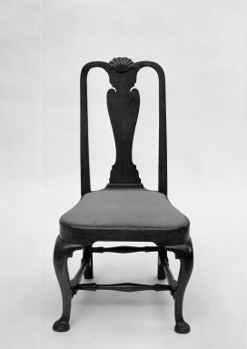 Side Chair. Walnut, Overall height: 40 1/4 in. (102.2 cm). Brooklyn Museum, Bequest of Mrs. William Sterling Peters, 50.141.2. Creative Commons-BY
