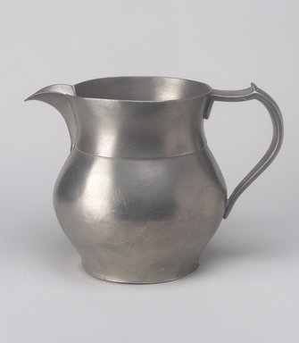 Water Pitcher, 1837-1860. Pewter, 6 1/4 x 8 3/8 x 5 7/8 in. (15.9 x 21.3 x 14.9 cm). Brooklyn Museum, Bequest of Mrs. William Sterling Peters, 50.141.37. Creative Commons-BY