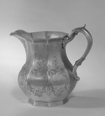 W. Adams. Pitcher, ca. 1830. Silver, 7 x 6 in. (17.8 x 15.2 cm). Brooklyn Museum, Gift of Belle M. Kitching, 50.152. Creative Commons-BY
