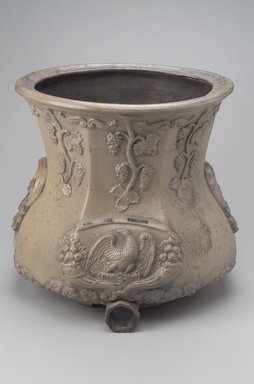 American. Wine Press, 18th century. Stoneware, 13 3/8 x 14 1/8 x 14 1/2 in. (34 x 35.9 x 36.8 cm). Brooklyn Museum, Gift of Arthur W. Clement, 50.153. Creative Commons-BY