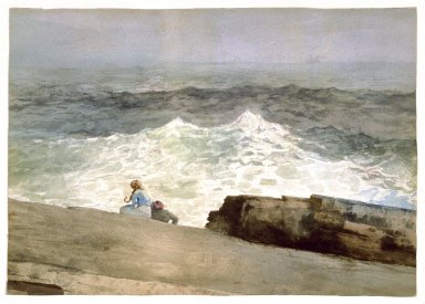 Winslow Homer (American, 1836-1910). The Northeaster, 1883. Watercolor over graphite on cream wove paper, 14 1/8 x 19 3/4in. (35.9 x 50.2cm). Brooklyn Museum, Bequest of Sidney B. Curtis in memory of S.W. Curtis, 50.185