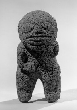 Standing Figure Tiki. Volcanic stone, 8 1/4 x 3 15/16 in. (21.0 x 10.0 cm). Brooklyn Museum, Gift of Wolfgang Paalen, 50.52. Creative Commons-BY