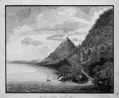 Brooklyn Museum: Views of America  -  Anthony's Nose - Hudson River