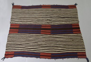 Navajo (Native American). Chief's Blanket, 1875-1880. Wool, dye, 43 x 56in. (109.2 x 142.2cm). Brooklyn Museum, Henry L. Batterman Fund and the Frank Sherman Benson Fund, 50.67.45. Creative Commons-BY