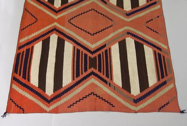 Navajo (Native American). Bayeta-style Blanket, 1875-1880. Wool, dye, 59 x 81in. (149.9 x 205.7cm). Brooklyn Museum, Henry L. Batterman Fund and the Frank Sherman Benson Fund, 50.67.46. Creative Commons-BY