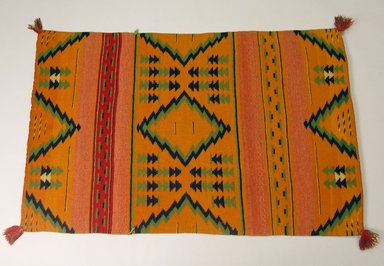 Navajo (Native American). Blanket, 1873-1875. Wool, 48 x 30 1/2in. (121.9 x 77.5cm). Brooklyn Museum, Henry L. Batterman Fund and the Frank Sherman Benson Fund, 50.67.53. Creative Commons-BY