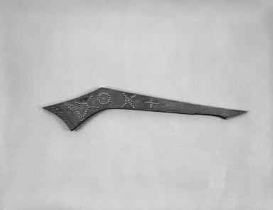 Eastern, Sioux (Native American). War Club, early 19th century. Wood, brass nails, 30 1/2 x 6 1/2 x 3/4 in. (77.5 x 16.5 x 1.9 cm). Brooklyn Museum, Henry L. Batterman Fund and the Frank Sherman Benson Fund, 50.67.75. Creative Commons-BY