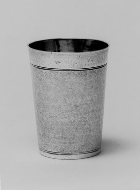 I.F. Hornung (died ca. 1765). Kiddush Wine Cup, 17th century. Silver, 4 1/16 x 3 1/16 x 3 1/16 in. (10.3 x 7.8 x 7.8 cm). Brooklyn Museum, Gift of Mrs. Herbert Sterzelbach, 50.8. Creative Commons-BY
