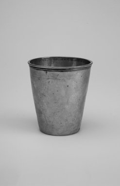 Kiddush Wine Cup, early 19th century. Silver, 3 3/8 x 3 x 3 in. (8.6 x 7.6 x 7.6 cm). Brooklyn Museum, Gift of the family of Clarence G. Bachrach, 50.9. Creative Commons-BY