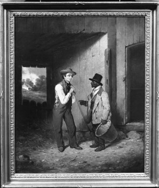 Francis William Edmonds (American, 1806-1863). All Talk and No Work, 1855-1856. Oil on canvas, 24 1/16 x 19 13/16 in. (61.1 x 50.3 cm). Brooklyn Museum, Carll H. de Silver Fund, 51.108