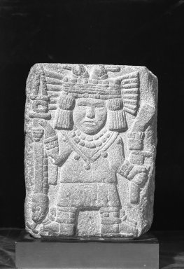Aztec. Relief with Maize Goddess (Chicomecóatl), 1440-1521. Stone, 15 1/2 x 11 3/4 x 3 3/8 in. (39.4 x 29.8 x 8.6 cm). Brooklyn Museum, A. Augustus Healy Fund, 51.109. Creative Commons-BY