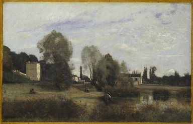 Jean-Baptiste-Camille Corot (French, 1796-1875). Ville d'Avray, 1865. Oil on canvas, frame: 28 3/4 x 40 1/4 x 4 in. (73 x 102.2 x 10.2 cm). Brooklyn Museum, Gift of Charlotte R. Stillman, 51.10