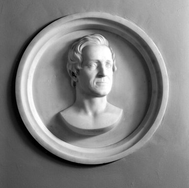 Hiram S. Powers (American, 1805-1873). Elisha Litchfield, 1866. Marble, 23 11/16 x 23 11/16 x 3 7/16 in. (60.2 x 60.2 x 8.7 cm). Brooklyn Museum, Gift of Marion Litchfield, 51.112.13. Creative Commons-BY