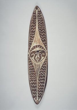 Era River. Carved and Painted Board (Gope), early 20th century. Wood, natural pigments, 53 x 11 x 2 1/2 in. (134.6 x 27.9 x 6.4 cm). Brooklyn Museum, Gift of John W. Vandercook, 51.118.5. Creative Commons-BY