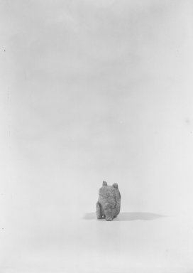 Crouching Bear, 1600-1046 B.C. Marble, traces of mercuric oxide (cinnabar), 1 11/16 x 1 x 1 5/16 in. (4.3 x 2.6 x 3.4 cm). Brooklyn Museum, Gift of Mr. and Mrs. Alastair B. Martin, the Guennol Collection, 51.136. Creative Commons-BY