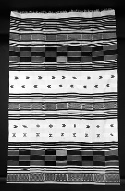 Gola. Hanging (kpokpo), early 20th century. Cotton, dye, 209 7/16 x 72 1/16 in. (532 x 183 cm). Brooklyn Museum, Gift of John W. Vandercook, 51.140.35. Creative Commons-BY