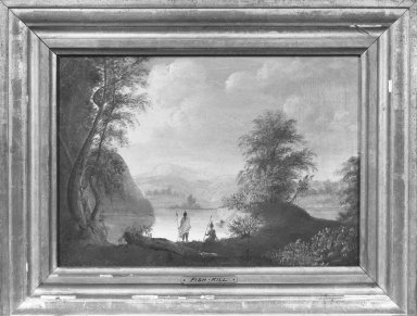 American. Hudson River and Indians, Fishkill, ca 1820s-1830s. Oil on canvas, 10 3/16 x 14 3/16 in. (25.8 x 36 cm). Brooklyn Museum, Gift of Mary van Kleeck in memory of Charles M. van Kleeck, 51.193.2