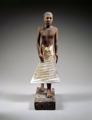 Statue of Metjetji, ca. 2371-2288 B.C.E. Wood, gessoed and painted; alabaster, obsidian, copper, Height: 24 1/4 in. (61.6 cm). Brooklyn Museum, Charles Edwin Wilbour Fund, 51.1. Creative Commons-BY