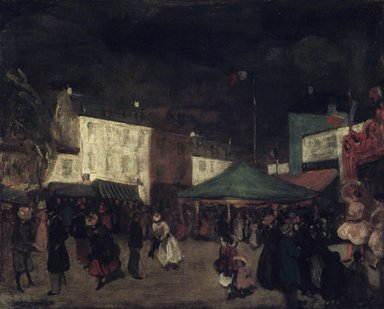 William Glackens (American, 1870-1938). The Country Fair, 1895-1896. Oil on canvas, 25 7/8 x 32 1/8 in. (65.8 x 81.6 cm). Brooklyn Museum, Bequest of Samuel A. Lewisohn, 51.213