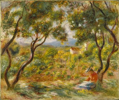 Pierre-Auguste Renoir (French, 1841-1919). The Vineyards at Cagnes (Les Vignes à Cagnes), 1908. Oil on canvas, 18 1/4 x 21 3/4 in. (46.4 x 55.2 cm). Brooklyn Museum, Gift of Colonel and Mrs. Edgar W. Garbisch, 51.219