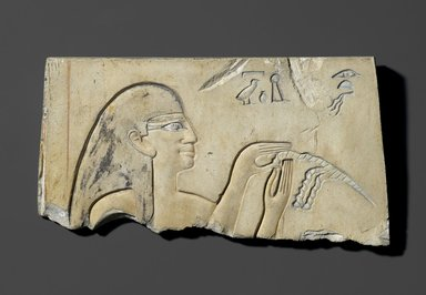 Egyptian. Relief of Hairdresser Inu, ca. 2008-1957 B.C.E. Limestone, painted, 5 3/16 x 9 5/8 in. (13.2 x 24.5 cm). Brooklyn Museum, Charles Edwin Wilbour Fund, 51.231. Creative Commons-BY