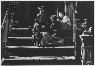 Walter Rosenblum (American, 1919-2006). Pitt Street, 1941. Chloro bromide photograph, 5 1/2 x 7 3/4 in.  (14.0 x 19.7 cm). Brooklyn Museum, Gift of Walter Rosenblum, 51.241.2. © Rosenblum Archive