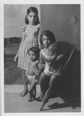 Walter Rosenblum (American, 1919-2006). Spanish Refugee Children, 1947. Chloro bromide photograph, 6 7/8 x 5 in.  (17.5 x 12.7 cm). Brooklyn Museum, Gift of Walter Rosenblum, 51.241.3. © Rosenblum Archive