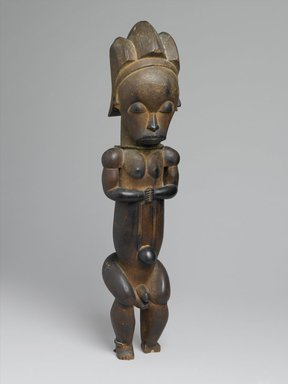 Master of Ntem. Reliquary Guardian Figure (Eyema-o-Byeri), mid-18th to mid-19th century. Wood, iron, 23 x 5 7/8 x 5 in. (58.4 x 14.9 x 12.7 cm). Brooklyn Museum, Frank L. Babbott Fund, 51.3. Creative Commons-BY