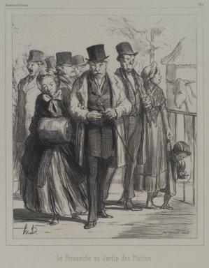 Honoré Daumier (French, 1808-1879). Le Dimanche au Jardin des Plantes, 1862. Lithograph on Chine collé paper, Sheet: 17 5/16 x 12 5/16 in. (44 x 31.3 cm). Brooklyn Museum, Frank L. Babbott Fund, 51.4.4