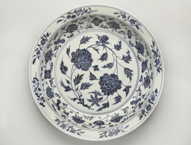 Plate, 1368-1644. Porcelain with underglaze, 2 3/4 x 15 1/2 in. (7 x 39.4 cm). Brooklyn Museum, Gift of Samuel P. Avery, by exchange, 51.85. Creative Commons-BY