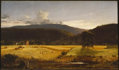 Jasper Francis Cropsey (American, 1823-1900). Bareford Mountains, West Milford, New Jersey, 1850. Oil on canvas, 23 1/16 x 40 1/16 in. (58.6 x 101.8 cm). Brooklyn Museum, Dick S. Ramsay Fund, 51.8