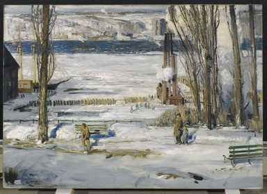 George Wesley Bellows (American, 1882-1925). A Morning Snow--Hudson River, 1910. Oil on canvas, 45 1/16 x 63 3/16 in. (114.5 x 160.5 cm). Brooklyn Museum, Gift of Mrs. Daniel Catlin, 51.96