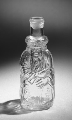 Bottle, late 19th century. Glass, 6 1/2 x 2 3/8 in. (16.5 x 6 cm). Brooklyn Museum, Gift of Alberta P. Locke, 52.110.135. Creative Commons-BY